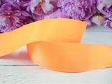 Репсовая лента цв. светло-оранжевый 40 мм.