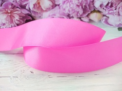 Репсовая лента цв. ярко-розовый 40 мм.