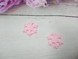 Снежинка с глиттером цв. розовый 22мм.