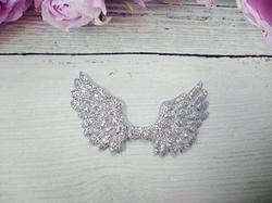 Крылья с глиттером цв. серебро 70х43 мм.