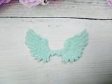 Крылья с глиттером цв. мятный 70х43 мм.