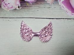 Крылья из кожзама цв. розовый 50х33 мм.