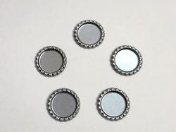 Крышечка для бантика цв. серебро D 25 мм.(внутр.)