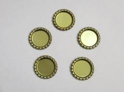 Крышечка для бантика цв. золото D 25 мм.(внутр.)