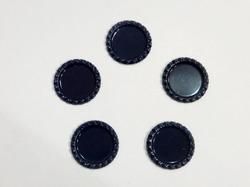 Крышечка для бантика цв. темно-синий D 25 мм.(внутр.)