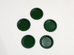 Крышечка для бантика цв. темно-зеленый D 25 мм.(внутр.)