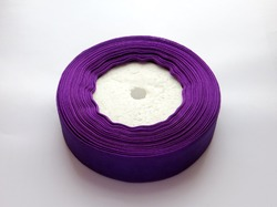 Лента из органзы цв. фиолетовый 25мм