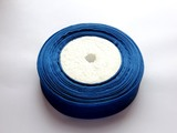Лента из органзы цв. темно-синий 25 мм.
