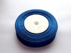 Лента из органзы цв. темно-синий 25 мм. (5 м.)