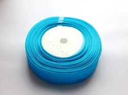 Лента из органзы цв. ярко-голубой 25 мм. (5 м.)