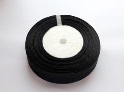 Лента из органзы цв. черный 25 мм.