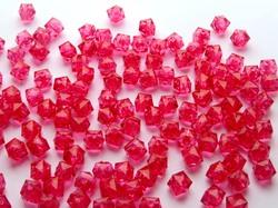 Бусины акриловые многогранные цв. арбузный, куб 10х10 мм. (50 шт.)