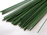 Проволока герберная в пластиковой оплетке цв. зеленый 40 см. 2,0 мм.