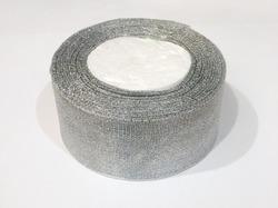 Металлизированная лента цв. серебро 50 мм.(1м.)