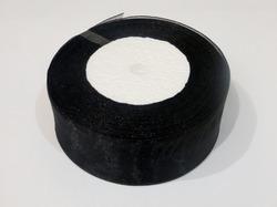 Лента из органзы цв. черный 40 мм.(5м.)