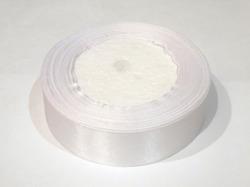 Атласная лента цв. белый 25 мм.