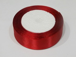 Атласная лента цв. темно-красный 25 мм.