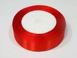 Атласная лента цв. красный 25 мм.(1м.)