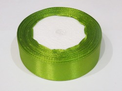 Атласная лента цв. оливковый 25 мм.(1м.)
