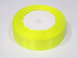 Атласная лента цв. ярко-желтый 25 мм.(1м.)