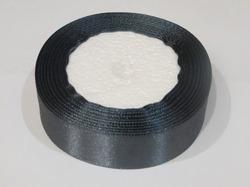 Атласная лента цв. серый 25 мм.