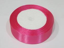 Атласная лента цв. темно-розовый 25 мм.(1м.)