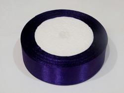 Атласная лента цв. темно-фиолетовый 25 мм.