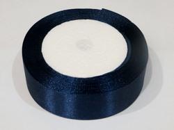 Атласная лента цв. темно-синий 25 мм.