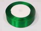 Атласная лента цв. зеленый 25 мм.
