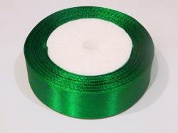 Атласная лента цв. зеленый 25 мм.(1м.)