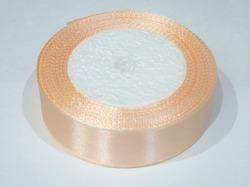 Атласная лента цв. светло-персиковый 25 мм.