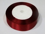 Атласная лента цв. бордовый 25 мм.