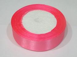 Атласная лента цв. ярко-розовый 25 мм.