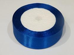 Атласная лента цв. синий 25 мм.(1м.)