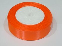 Атласная лента цв. ярко-оранжевый 25 мм.(1м.)