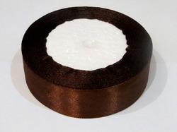 Атласная лента цв. коричневый 25 мм.