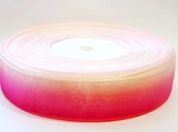 Лента из органзы цв. малиновый градиент 25 мм.(5м.)