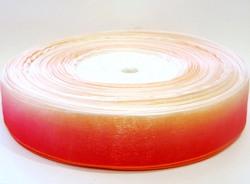 Лента из органзы цв. красный градиент 25 мм.(5м.)
