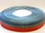 Лента из органзы цв. красный+синий 25 мм.(5м.)