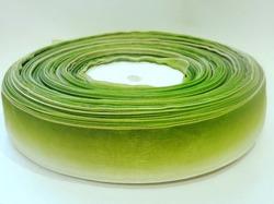 Лента из органзы цв. салатовый градиент 25 мм.(5м.)