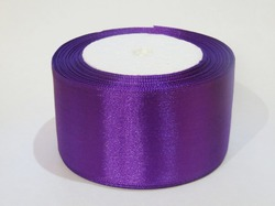 Атласная лента цв. фиолетовый 50 мм.