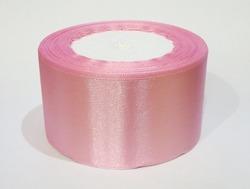 Атласная лента цв. розовый 50 мм.