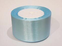 Атласная лента цв. голубой 50 мм.