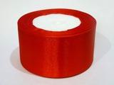 Атласная лента цв. красный 50 мм.