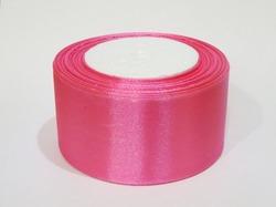 Атласная лента цв. темно-розовый 50 мм.