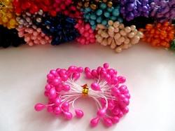 Тычинки цв. ярко-розовый 5мм. (50 шт.)