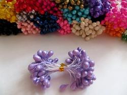 Тычинки цв. светло-фиолетовый 5мм. (50 шт.)