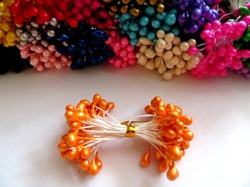 Тычинки цв. оранжевый 5мм. (50 шт.)
