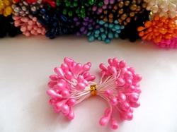 Тычинки цв. розовый 5мм. (50 шт.)