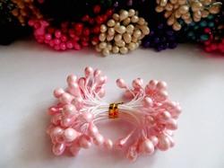 Тычинки цв. светло-розовый 5мм. (50 шт.)